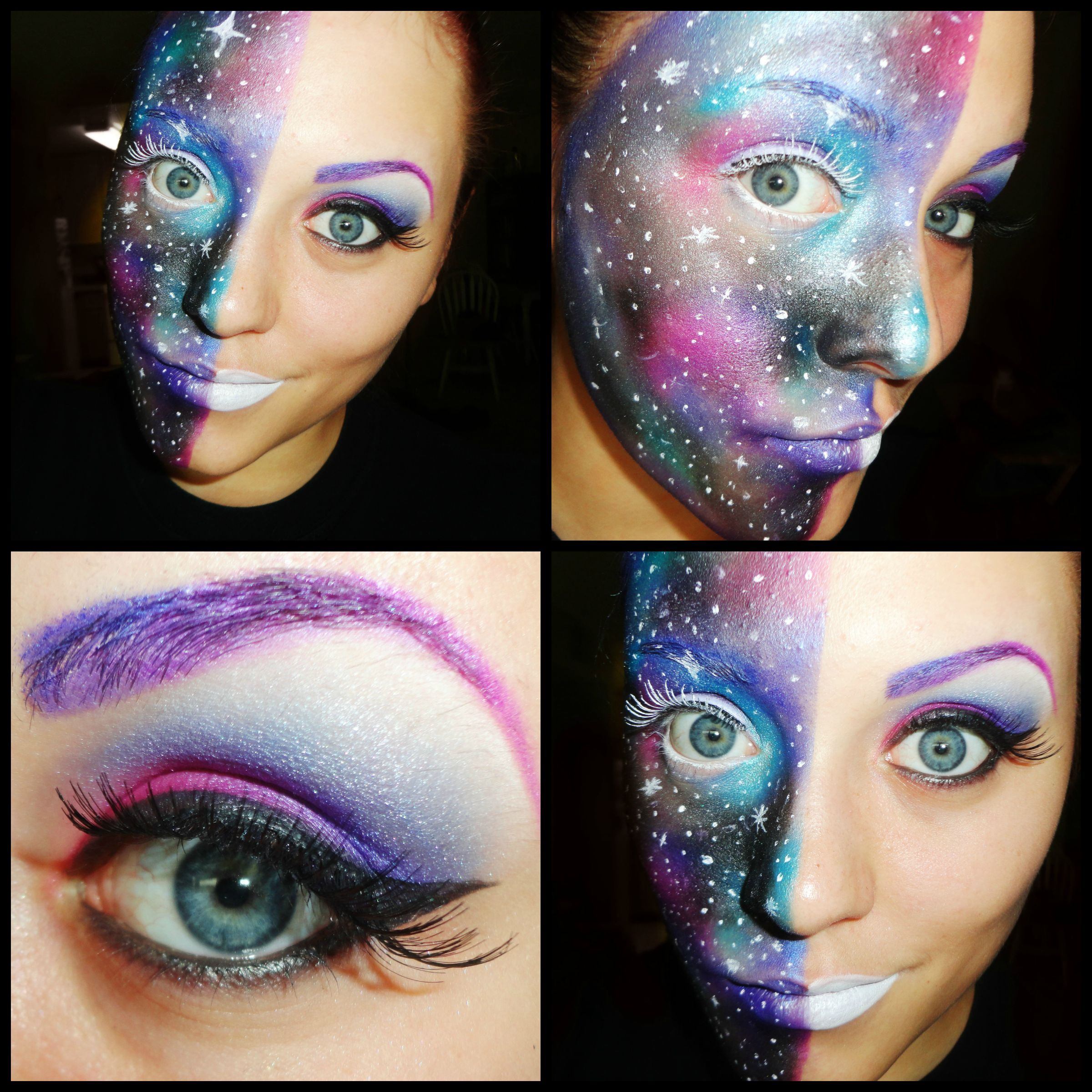 galaxy makeup space makeup fun idea for halloween - Fun Makeup Ideas For Halloween