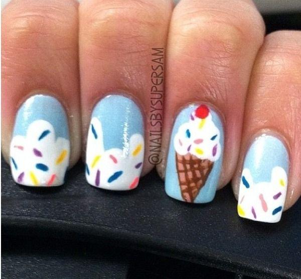 Cream Nail Art: Uñas Verano, Uñas