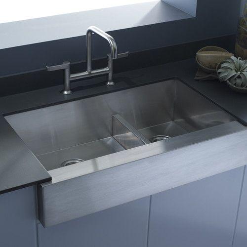 Vault 36 L X 21 W Double Basin Farmhouse Kitchen Sink With