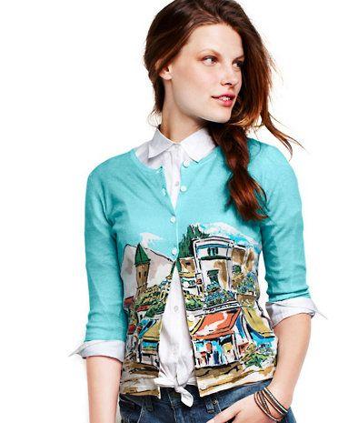 198abd4474af4 Signature Merino Cardigan - Garnet Hill | Travel Musts | Fashion ...