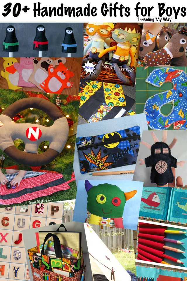 30+ Handmade Gifts for Boys... patterns, tutorials, ideas and inspiration ~ Threading My Way