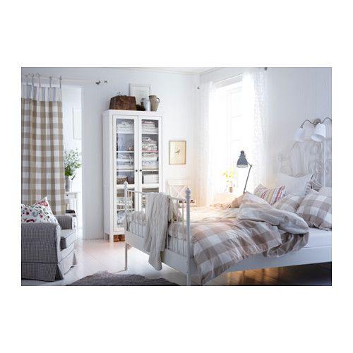 LEIRVIK Estructura cama, blanco | Habitaciones matrimonio, Muebles ...