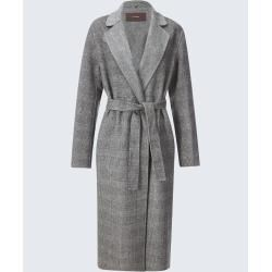 Photo of Double-face coat in gray checked windsorwindsor