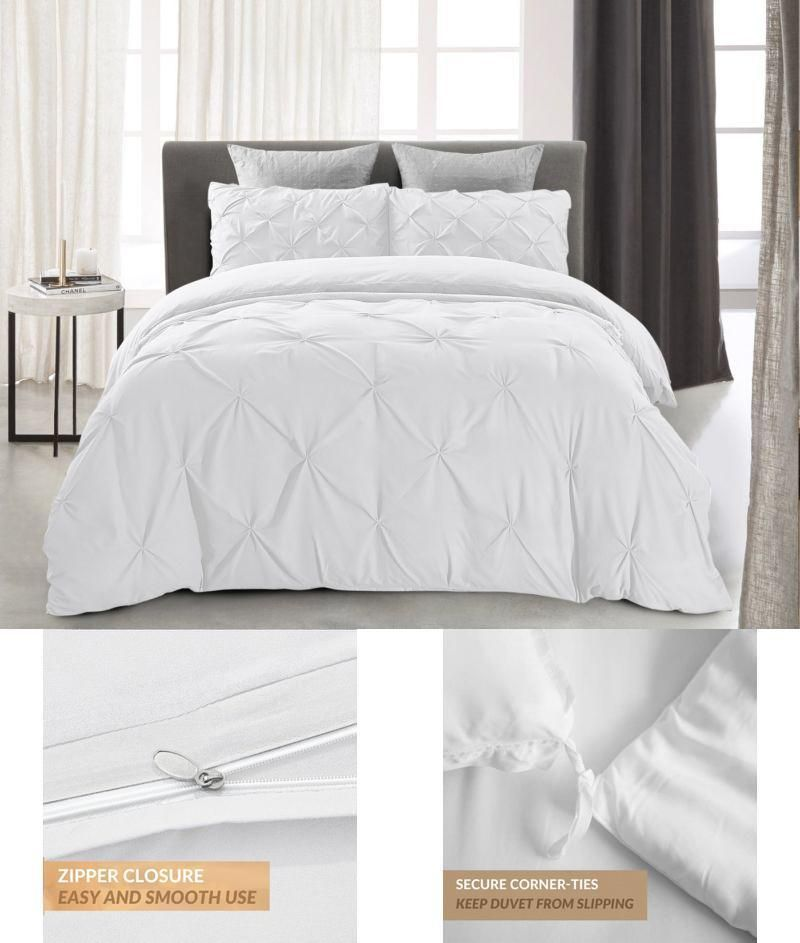 Ruched Bedding Set King Size Bed White Duvet Cover Shams 3 Piece Twist Wordofdream King Bedding Sets White Duvet Covers Duvet Cover Sets White full size duvet cover