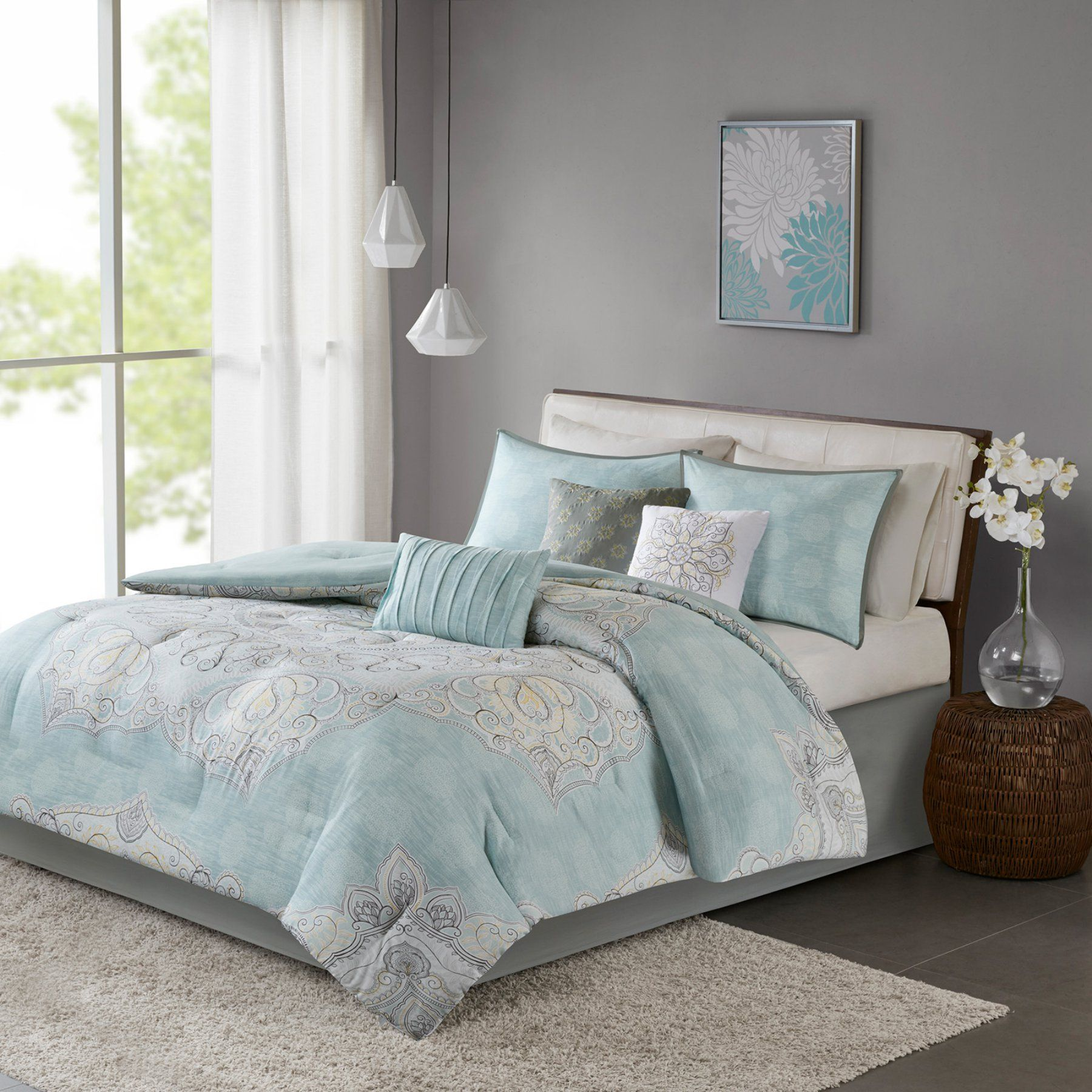 Lucinda 7 Piece Reversible Comforter Set By Madison Park