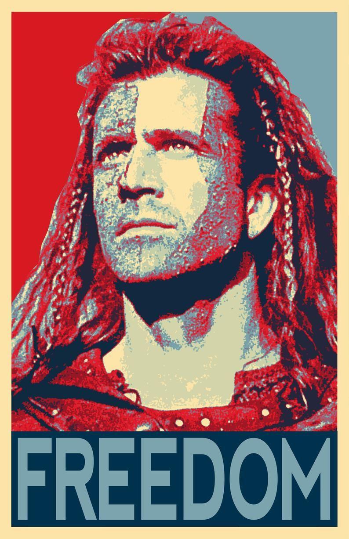 William Wallace Braveheart Freedom Illustration Mel Gibson Image 2 Movie Posters Minimalist Braveheart William Wallace