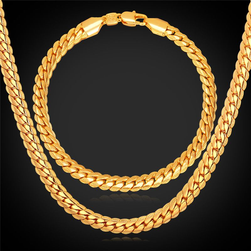Collare African Chain Jewelry Sets GoldRose GoldBlack Color Snake