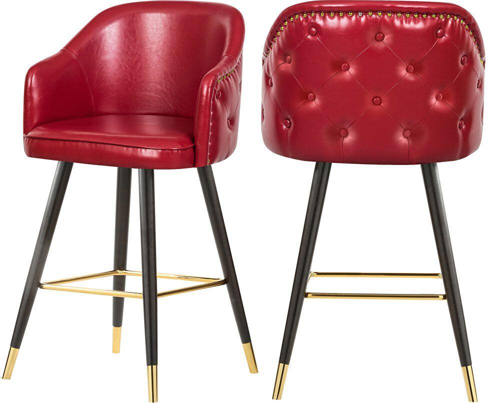 Barbosa Red Bar Stool 900 Meridian Furniture Bar Stools Red Bar Stools Meridian Furniture Leather Bar Stools
