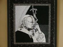 Juan Pablo II // the most amazing quilt art piece I've ever seen, done by Emilia González