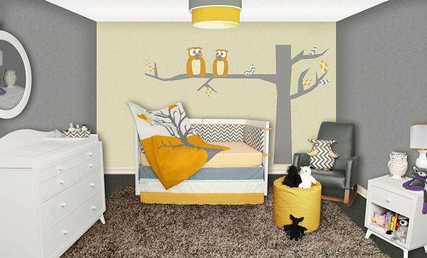 kinderzimmer einrichtung mit skurrilem stil wandtattoo verspielt, Schlafzimmer design