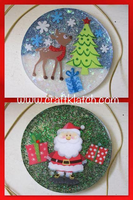 Reindeer Christmas Wreath Set of 4 Coasters