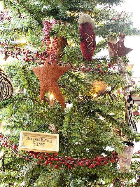 Primitive Christmas Tree Primitive Christmas Tree Country Christmas Ornaments Primitive Country Christmas