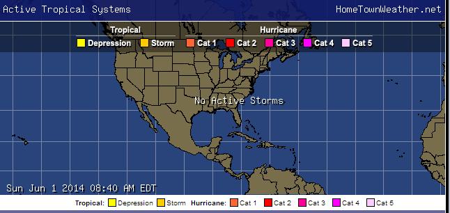 Hurricane Season 2014 Has Begun - Home Town Weather - Hurricane Central