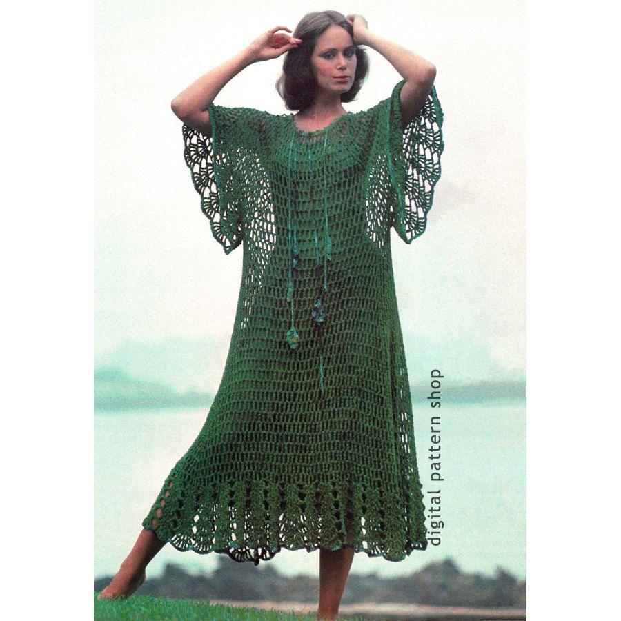 Crochet beach dress pattern mesh caftan hippie dress crochet crochet beach dress pattern mesh caftan hippie dress crochet pattern womens boho kaftan cover up bankloansurffo Images