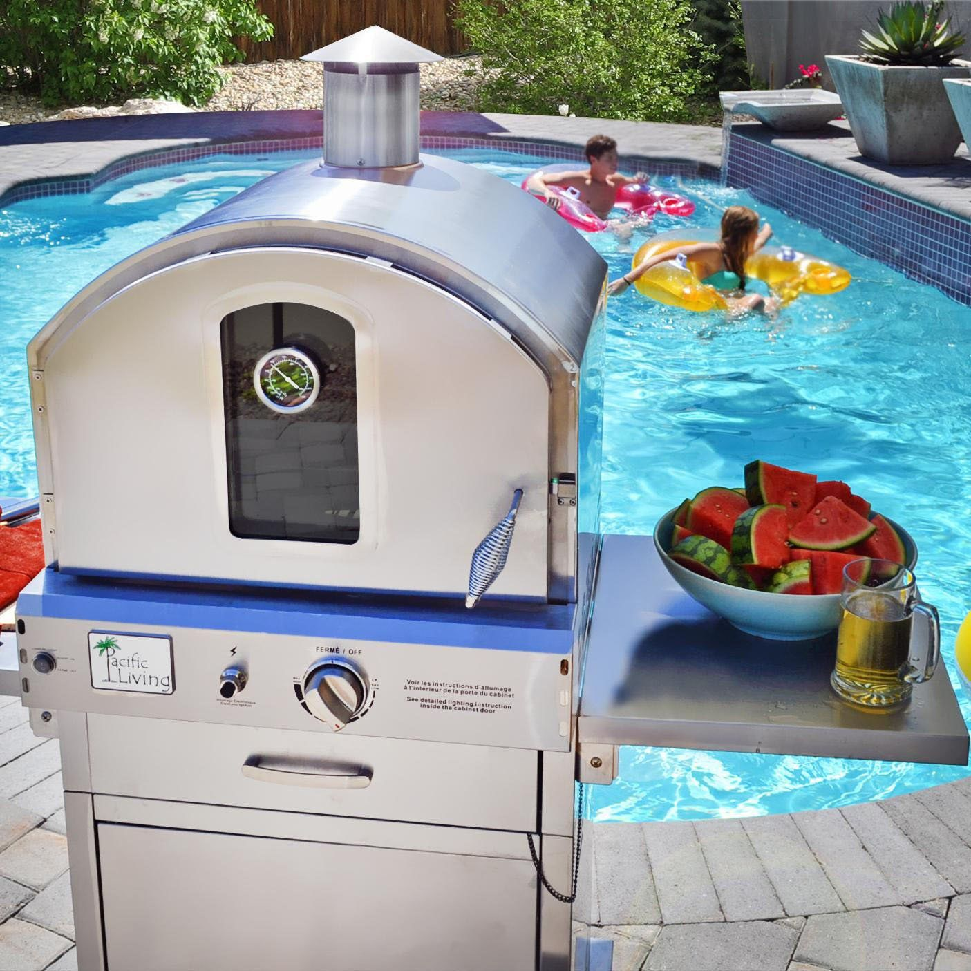 Fancy   Outdoor Pizza Oven Gas Grill By Pacific Living