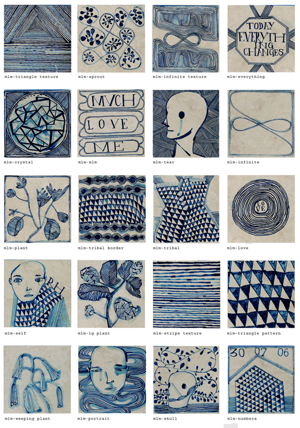 Ruan Hoffman Much Love Me tile series