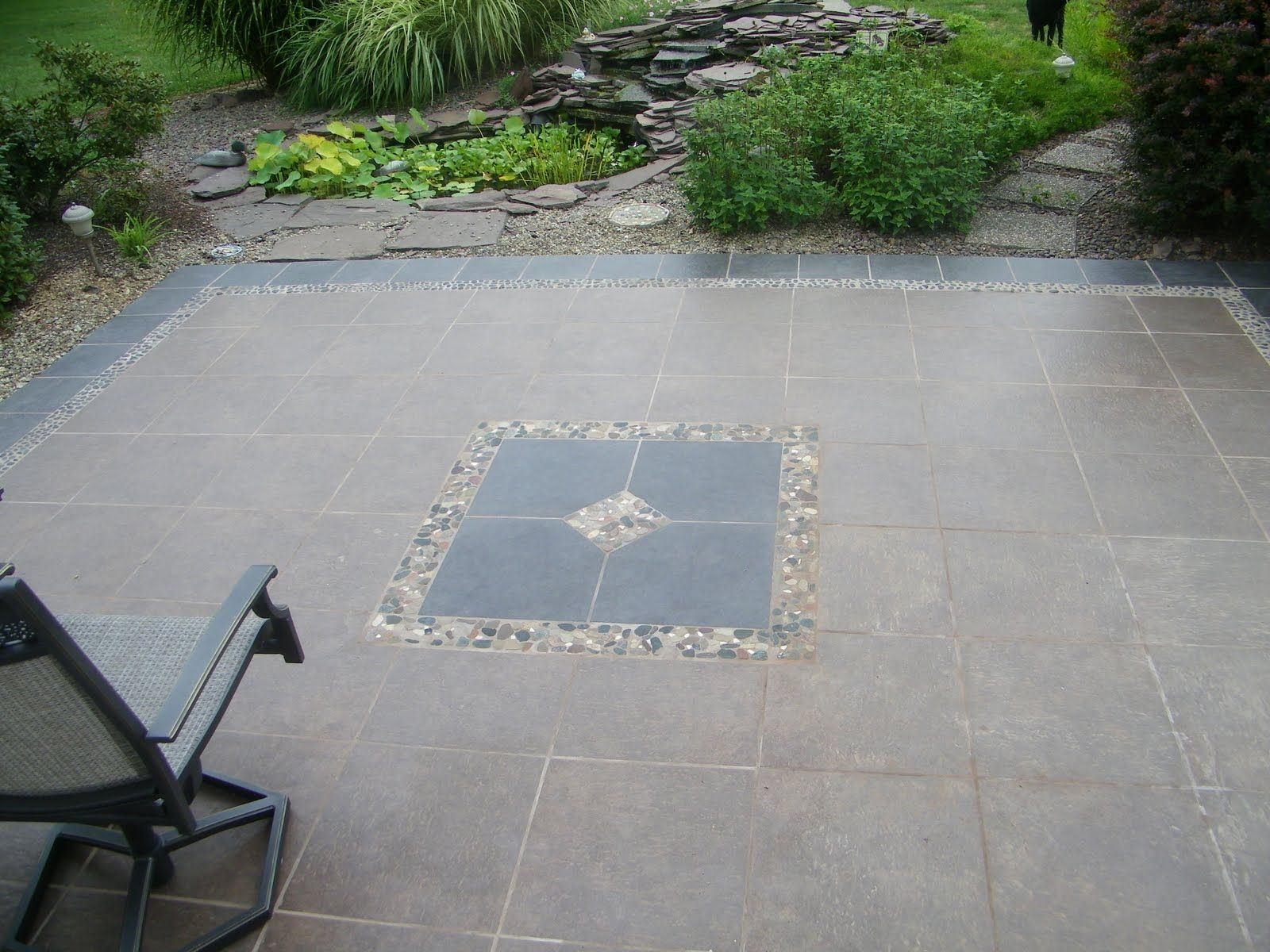 likeness of several outdoor flooring over concrete styles to gain not only beautiful outlook but awesome - Concrete Tile Garden Decor