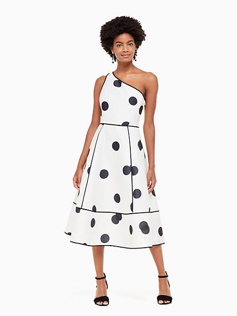07a09ca81ab58 Kate Spade Dee Dot Emy Dress, Cream/Rich Navy - Size 12   Products ...