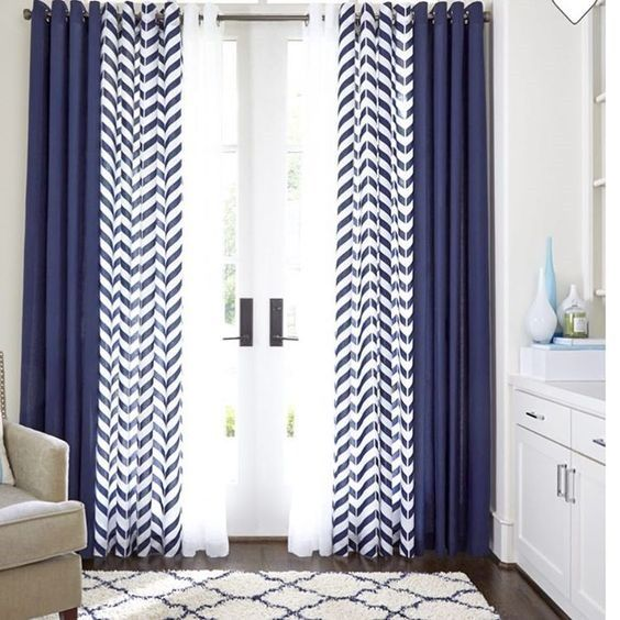 Maybe Double Curtains Blue Curtains Living Room Curtains Living Room Curtains Living
