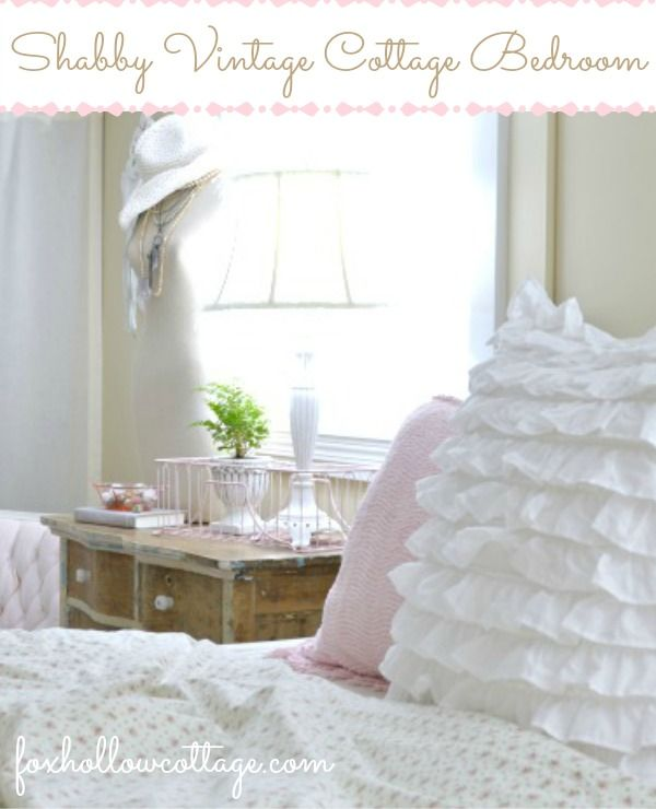 DIY:: Beautiful Shabby Bedroom  - Budget Decorating with Thrifted Finds ! by @Shannon Bellanca Fox Hollow Cottage