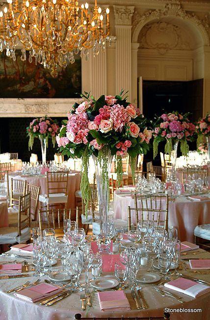 Tall Vase Trumpet Centerpiece Event Ideas Wedding Wedding Centerpieces Wedding Decorations