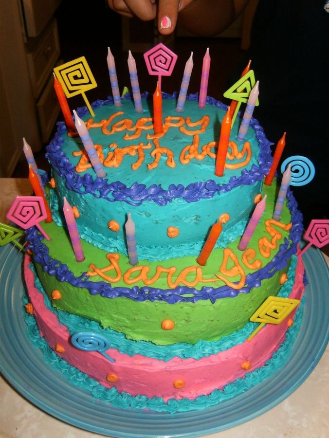 ... Cakes  Birthday cake ideas  Pinterest  Neon, Birthday cakes and Fun