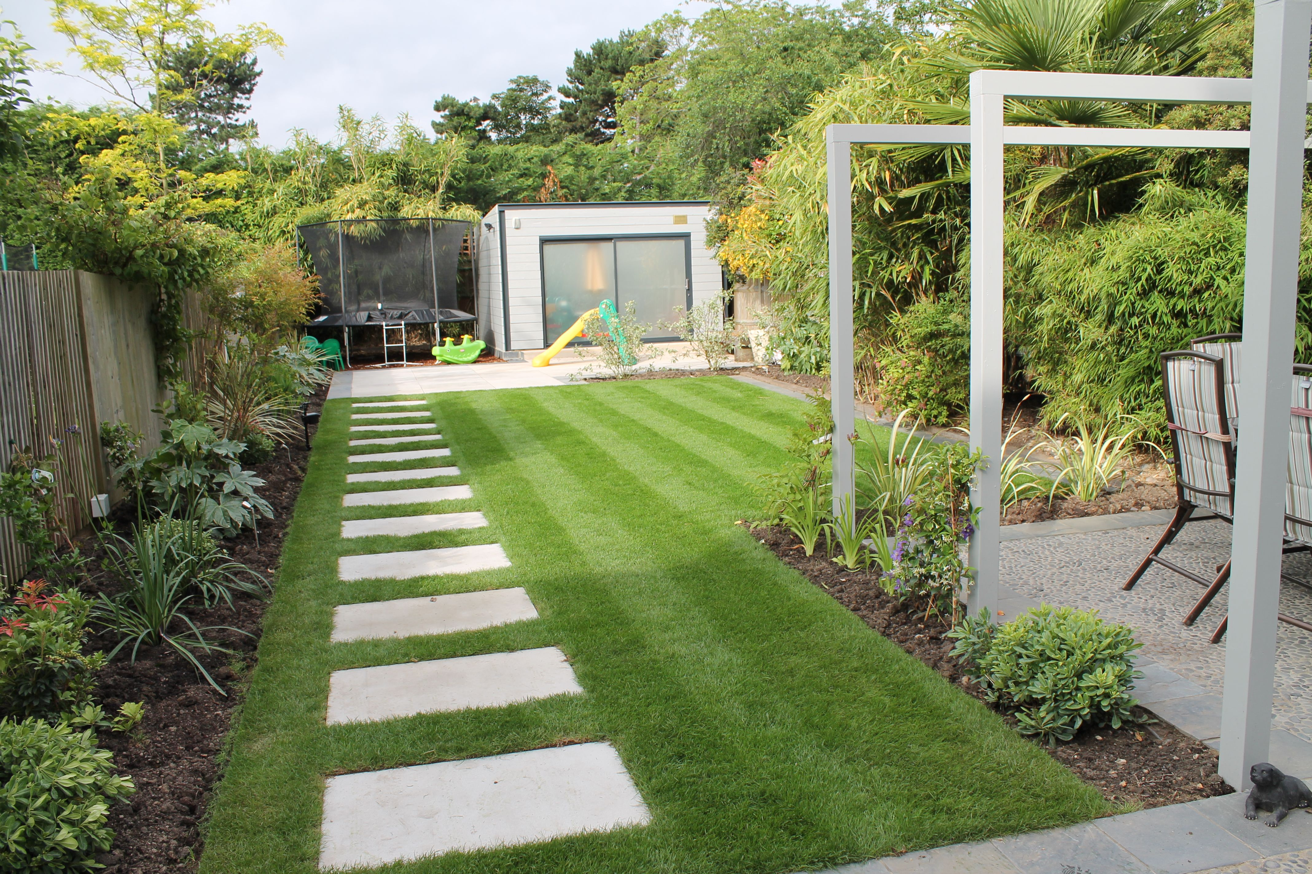 Modern back gardens google search back garden for Back garden landscaping ideas