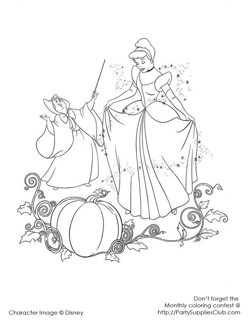 Cinderella pumpkin | Kids\' Coloring Pages | Pinterest