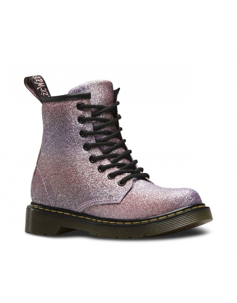 dr martens girls 39 delaney glitter boots pink multi. Black Bedroom Furniture Sets. Home Design Ideas