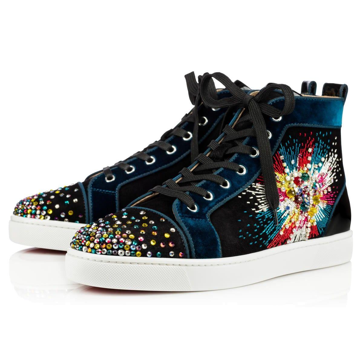 57ce20601f7b CHRISTIAN LOUBOUTIN LOUIS ON FIRE VEAU VELOURS FIREWORKS Multicolor Veau  velours - Men Shoes - Christian Louboutin.  christianlouboutin  shoes