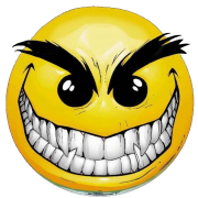 evil smiley sticker | a word for you | Smiley face images