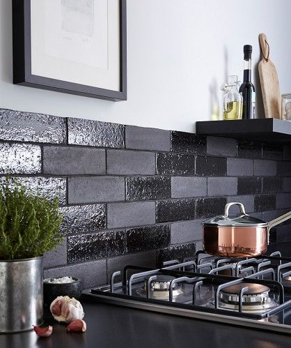 black tiles kitchen wall aaronson gloss black tile walls black 4756