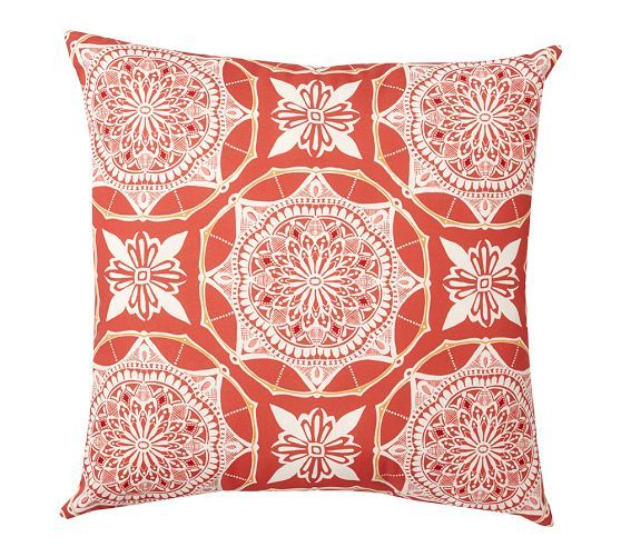 Betsy Medallion Indoor/Outdoor Pillow | Pottery Barn (With ...