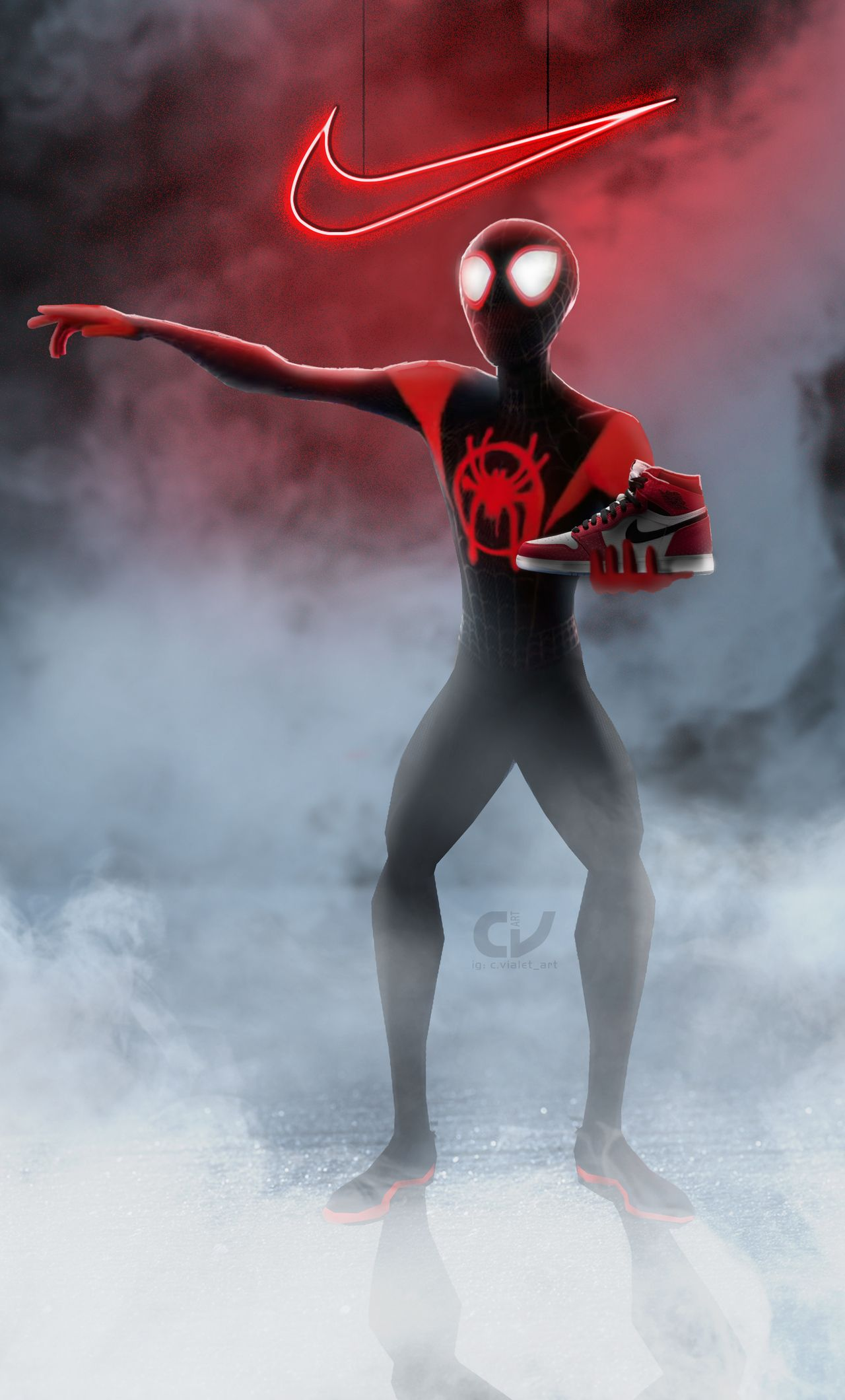 Miles Morales Iphone Wallpaper. 1280x2120 Spiderman Miles