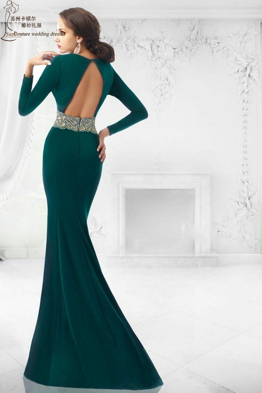 Aliexpress.com : Buy Long sleeve prom dress 2015 MP1369 free ...