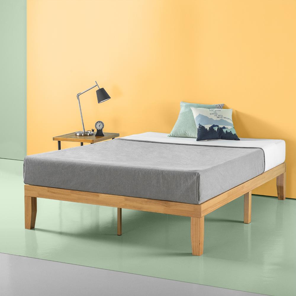 Zinus Moiz 14 Wood Platform Bed Queen Walmart Com In 2021 Wooden Bed Frames Wood Platform Bed Frame Solid Wood Platform Bed No box spring bed frame