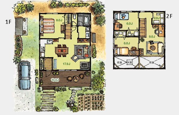 Japanesque House Floorplan Japanese Style House Japanese House Home Design Floor Plans