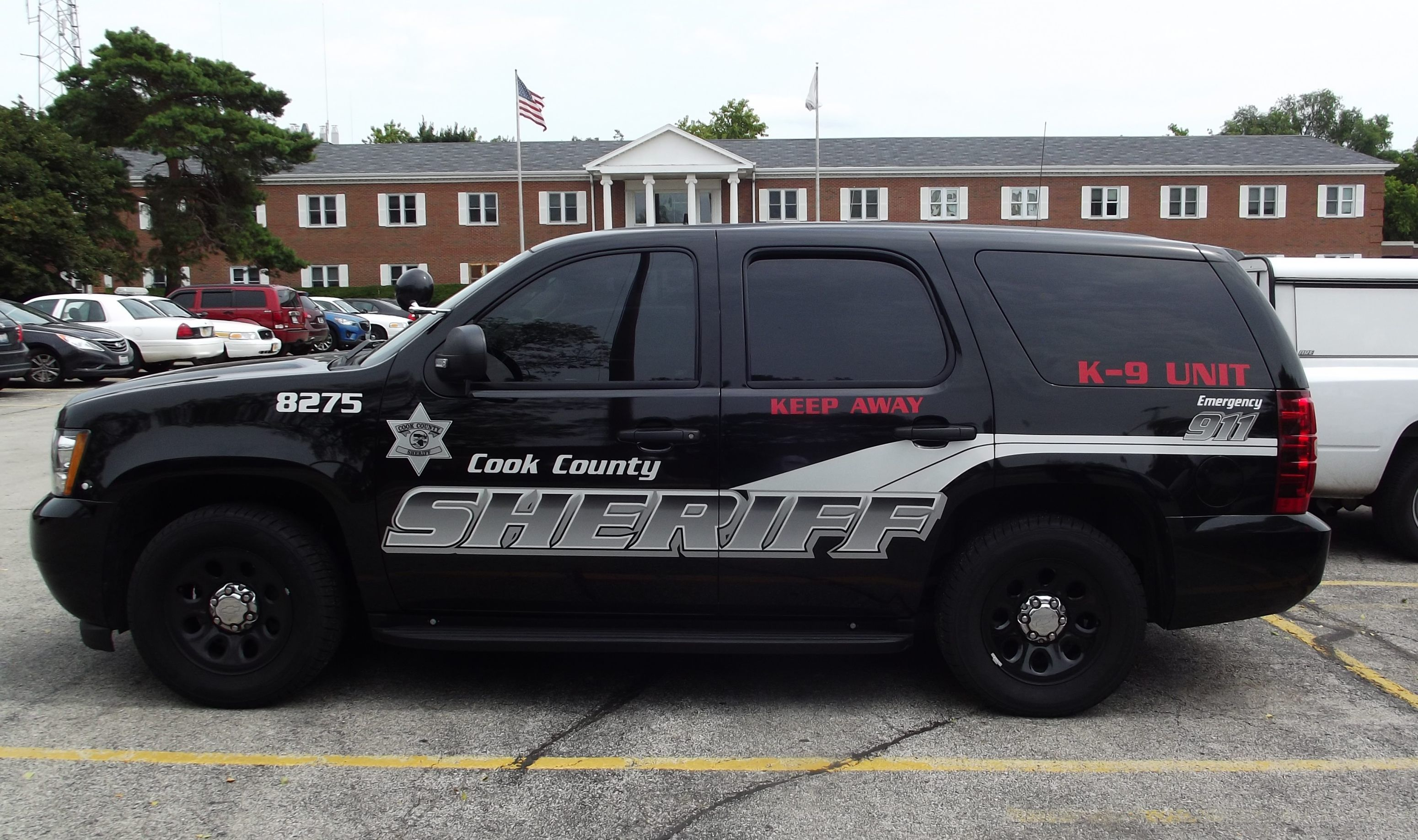 Cook County Sheriff K 9 Unit 8275 Chevy Tahoe Slicktop Police Truck Police Cars Police Car Pictures