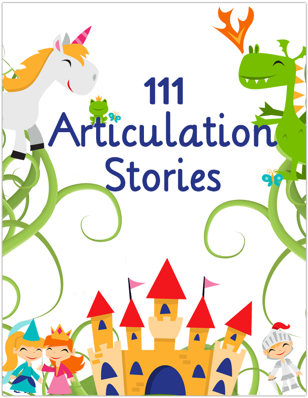 111 Articulation Stories Speech therapy activities