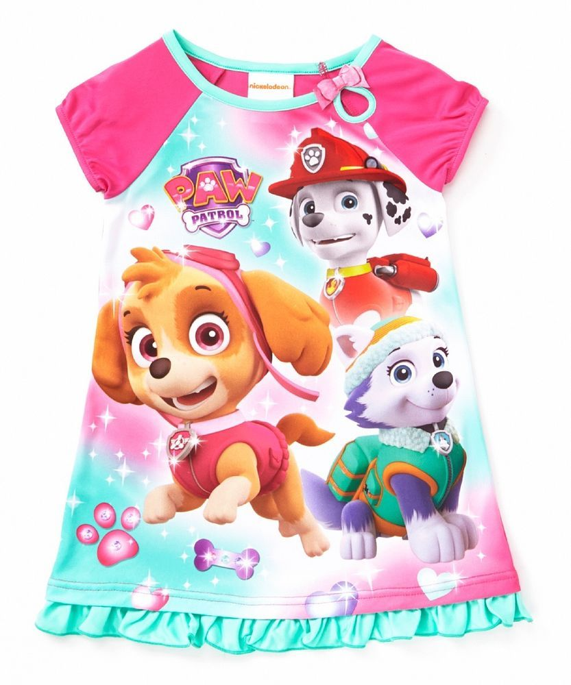 Details About Nickelodeon Paw Patrol Girls Nightgown