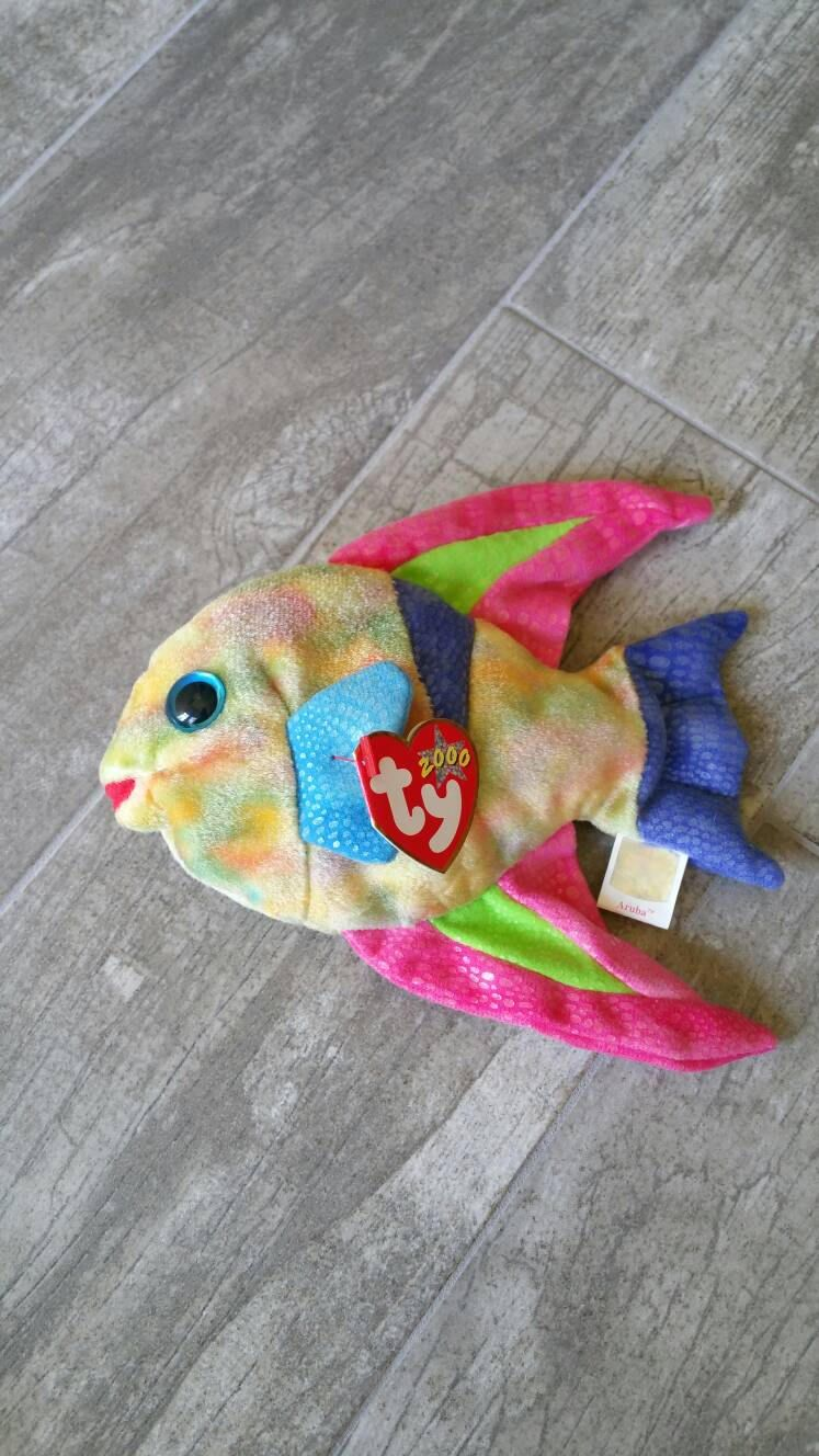 Aruba the Kissing Fish / TY Beanie Baby / Rare Collectible ...