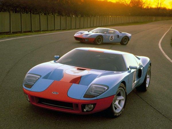 Gulf Racing Mustang Photo Ford Gt40 1966 Et Gt 2003 En Livrée 600x450