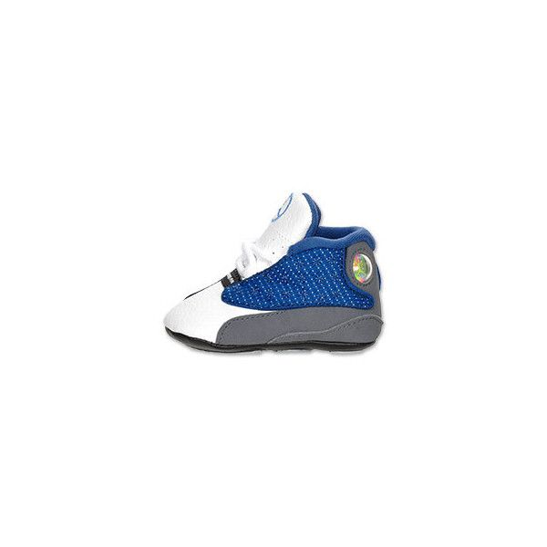 cfd88b46f1b Air Jordan Retro 13 Crib Shoe French Blue/Flint/White | FinishLine.com  ($40) ❤ liked on Polyvore featuring baby and baby shoe
