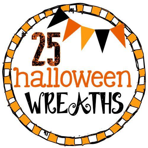 25 MUST-SEE Halloween Wreaths! Love all the orange and black!! #halloween