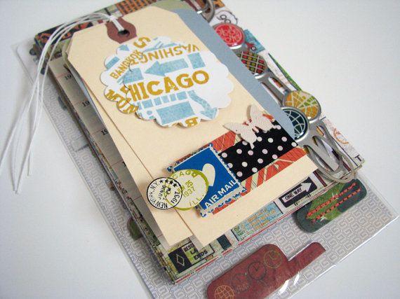 On the Go Travel Journal/Album Kit DIY by artfulMdesigns on Etsy