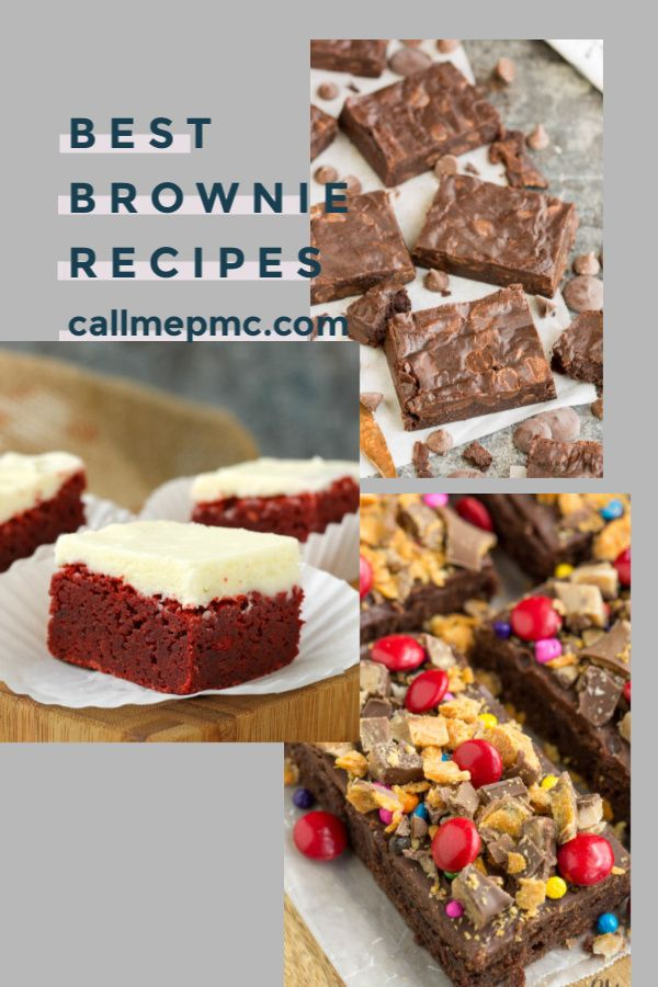 Best Brownie Recipes for Every Occasion is the perfect brownie roundup collection on Call Me PMc an