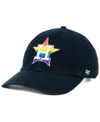 90dea92c9 '47 Brand Houston Astros Pride Clean Up Strapback Cap - Blue Adjustable. '