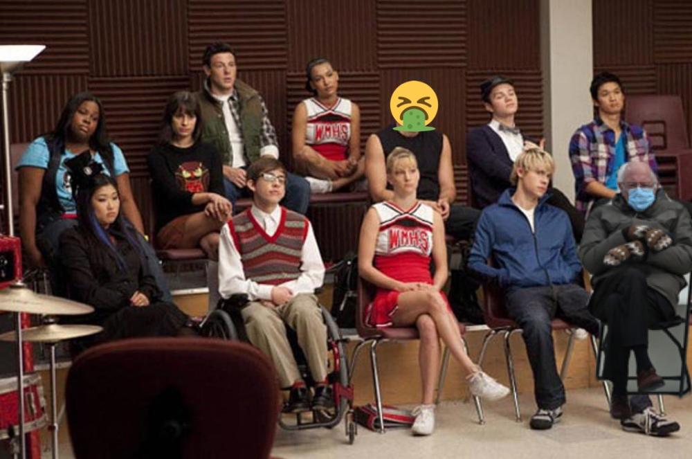 1 Bernie Sanders Glee Twitter Search Twitter In 2021 Glee Watch Glee Glee Season 4