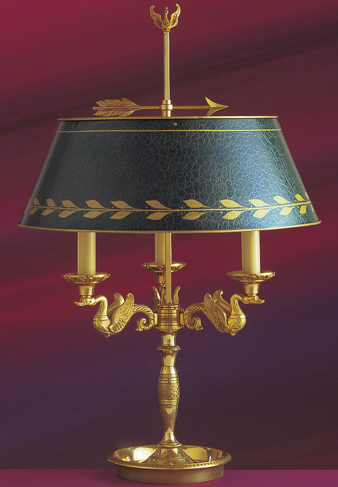 Bouillotte Lamp, Federal / French Empire Tole Bouillotte Lamp ...