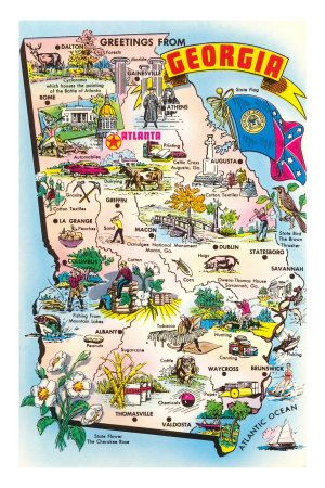 Georgia Map For Kids.Map Of Georgia Places Shirley And I Have Been Georgia Map